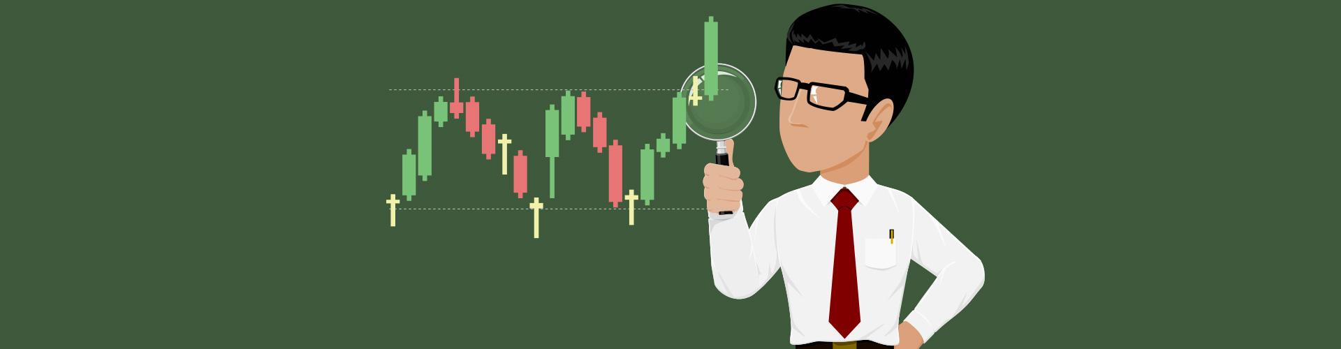 Untersuchung von dem Trading Chart