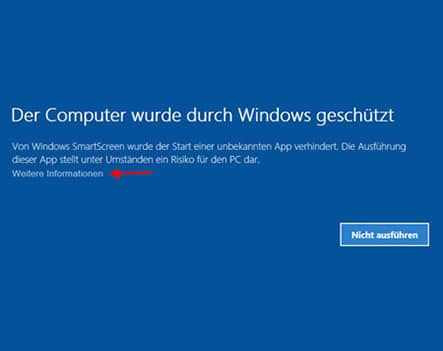 windows 10 warnung